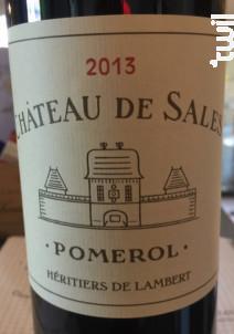Château de Sales - Château de Sales - 2013 - Rouge