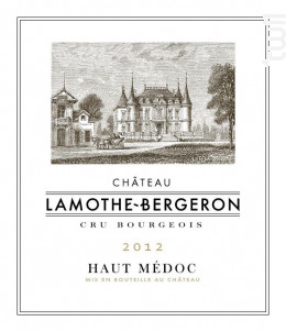 Château Lamothe Bergeron - Château Lamothe Bergeron - 2012 - Rouge