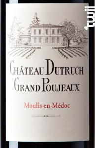 Château Dutruch Grand Poujeaux - Château Dutruch Grand Poujeaux - 2015 - Rouge