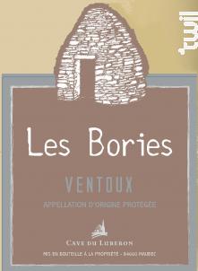 Les Bories - Cave du Luberon - 2018 - Blanc