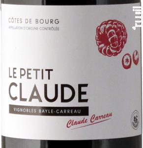 Le Petit Claude - Vignobles Bayle-Carreau - 2019 - Rouge