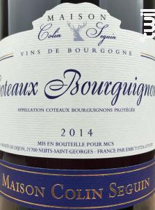 Coteaux Bourguignons - Terroir - Maison Colin Seguin - 2017 - Blanc