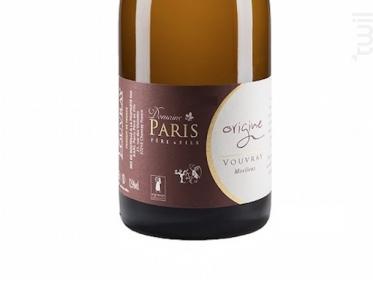 Origine - Moelleux - Domaine Paris Père et Fils - 2014 - Blanc