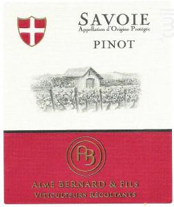 Savoie Pinot - Aimé Bernard & Fils - 2019 - Rouge