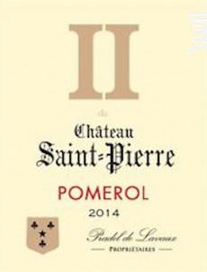 II de Saint-Pierre - Château Saint-Pierre (Pomerol) - 2014 - Rouge