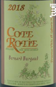 Côte Rôtie - Domaine Bernard Burgaud - 2018 - Rouge