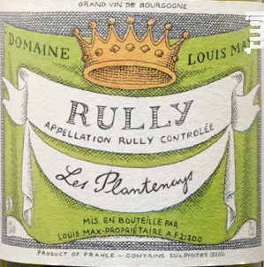Rully Les Plantenays - Louis Max - 2016 - Blanc