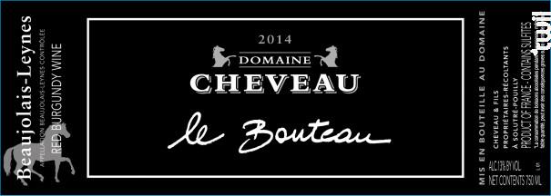 Le Bouteau - Domaine Cheveau - 2014 - Rouge