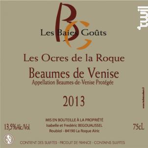 Les Ocres de la Roque - Domaine des Baies Goûts - 2016 - Rouge