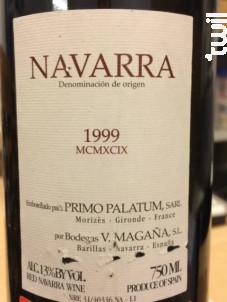 NAVARRA - Primo Palatum - 1999 - Rouge