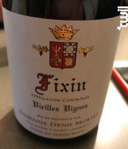 Fixin Vieilles Vignes - Domaine Denis et Arnaud Mortet - 2016 - Rouge
