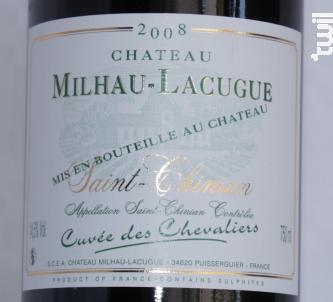 Cuvée des Chevaliers - Château Milhau Lacugue - 2015 - Rouge