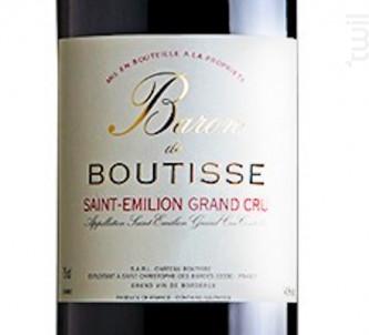 Baron De Boutisse - Château Boutisse - 2013 - Rouge