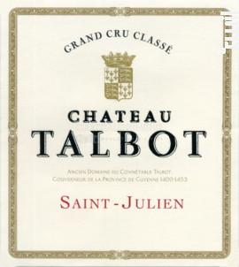 Château Talbot - Château Talbot - 2018 - Rouge