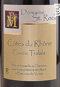 Cuvée Tralala - Domaine Saint Roch - 2016 - Rouge
