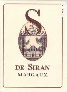 S de Siran - Château Siran - 2012 - Rouge