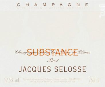Substance - Champagne Jacques Sélosse - Non millésimé - Effervescent