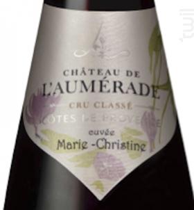Marie-Christine Rouge - Château de l'Aumerade - 2016 - Rouge