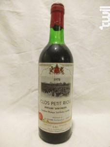 Clos Petit Riou - Clos Petit Riou - 1978 - Rouge