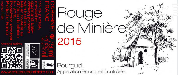 Rouge de Minière - Château de Minière - 2015 - Rouge