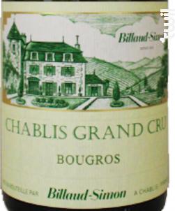 Chablis Grand Cru Bougros - Domaine Billaud-Simon - 2015 - Blanc