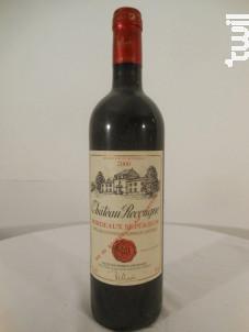 Château Recougne - Château Recougne - 2000 - Rouge