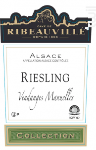 Riesling Collection Casher - Cave de Ribeauvillé - 2015 - Blanc