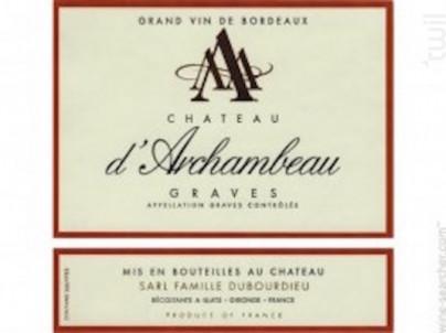 Château d'Archambeau Graves - Château d'Archambeau - 2000 - Rouge