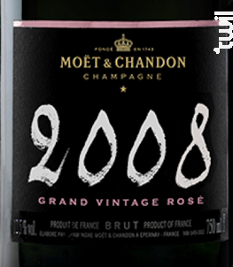 Grand Vintage Rosé - Moët & Chandon - 2008 - Effervescent