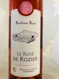 Château ROZIER-MORILLONS - Le Rosé de Rozier - Vignobles Crachereau - Non millésimé - Rosé