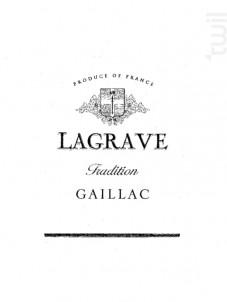 Lagrave Tradition - Terroir de Lagrave - 2016 - Blanc