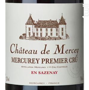Mercurey Premier Cru en Sazenay Château de Mercey - Antonin Rodet - 2016 - Rouge