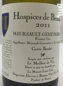 Meursault Premier Cru Les Genevrières - Hospices de Beaune - 2011 - Blanc