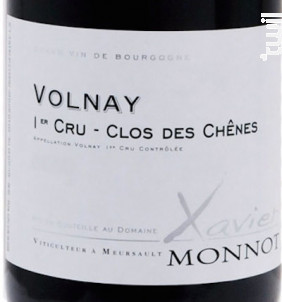 VOLNAY 1er cru Clos des Chênes - Domaine Xavier Monnot - 2015 - Rouge