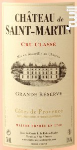 Grande Reserve - Château de Saint-Martin - 2018 - Rosé