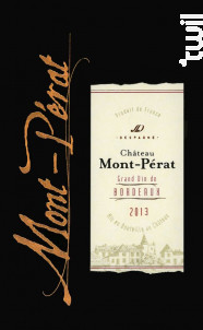 Château Mont Pérat - Château Mont Pérat - 2017 - Rouge