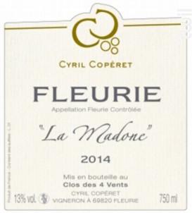 Fleurie - La Madone - Cyril Copéret - 2018 - Rouge