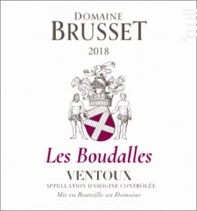 Les Boudalles - Domaine Brusset - 2020 - Rouge