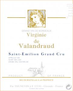 Virginie de Valandraud - Château Valandraud - 2012 - Rouge