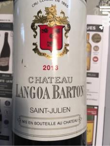 Château Langoa Barton Saint-Julien - Château Langoa Barton - 2012 - Rouge