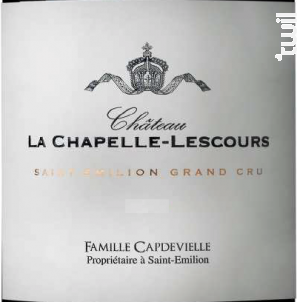 Château la Chapelle Lescours - Château l'Évêché - 2012 - Rouge