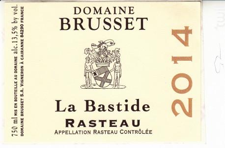 La Bastide - Domaine Brusset - 2020 - Rouge