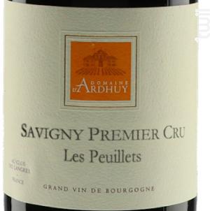 Savigny 1er Cru Les Peuillets - Domaine d'Ardhuy - 2017 - Rouge