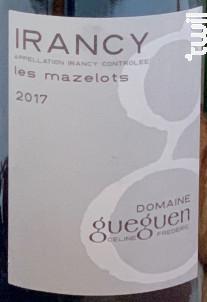 LES MAZELOTS - Domaine Céline & Frédéric Gueguen - 2018 - Rouge
