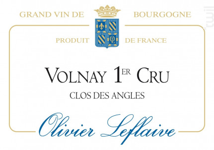 Volnay Premier Cru Clos des Angles - Maison Olivier Leflaive - 2012 - Rouge