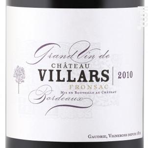 Château Villars - Château Villars - 2017 - Rouge