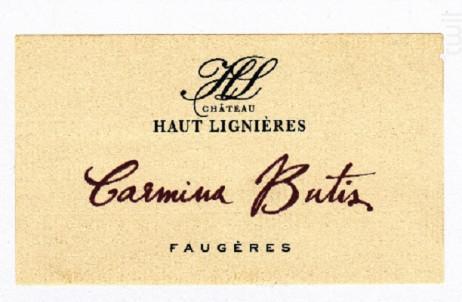 Carmina Butis - Château Haut Lignières - 2014 - Rouge