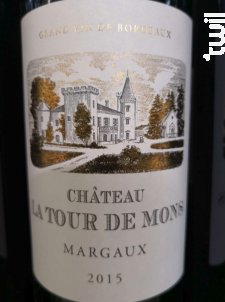 Château La Tour de Mons - Château La Tour de Mons - 2015 - Rouge