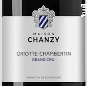 Griotte-Chambertin Grand cru - Maison Chanzy - 2016 - Rouge