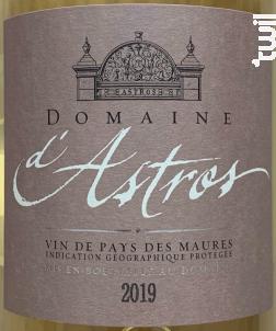 Cuvée Domaine - Château d'Astros - 2019 - Blanc